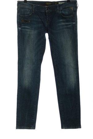 replay blue jeans Slim Jeans blau Casual-Look