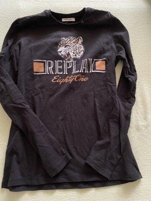 Replay Long Sleeve Blouse black