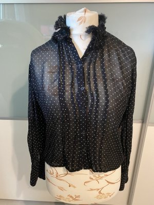 Replay Blusa de manga larga negro-blanco