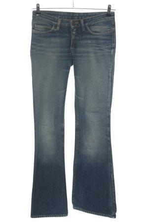Replay Jeansy o kroju boot cut niebieski W stylu casual
