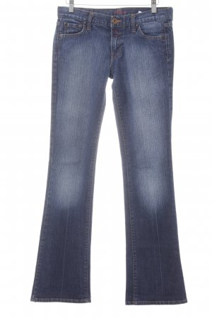 Replay Boot Cut Jeans blau meliert Casual-Look