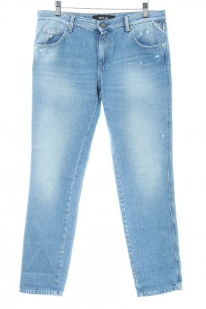 Replay Boyfriendjeans blau Casual-Look