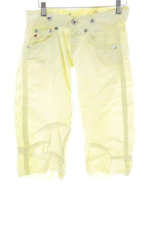 Replay Capris primrose-pale yellow casual look