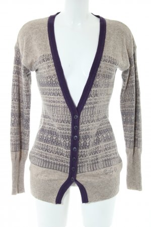 Replay Cardigan hellgrau-blau grafisches Muster Business-Look