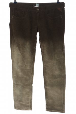 Replay Corduroy Trousers khaki-natural white color gradient casual look