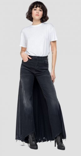 Replay Culotte divided skirt Gr. 27 S schwarze Jeans
