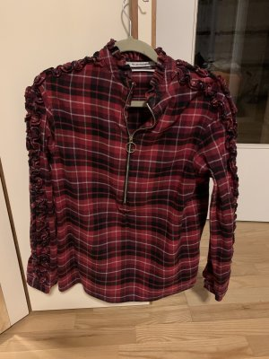 Replay Flannel Shirt carmine-black