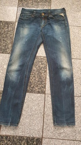 Replay Boyfriend jeans blauw