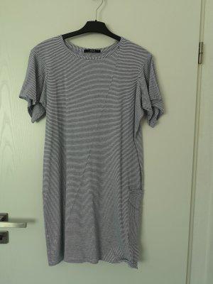 Replay Damen Kleid 30% Leinen, Blau/Weis,  Größe S
