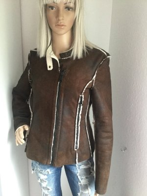 Replay Flight Jacket brown polyester