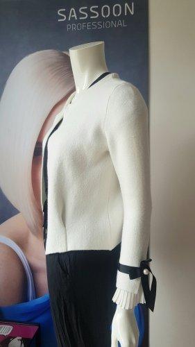 Replay Veste en laine noir-blanc cassé