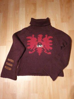 Replay Jersey de lana marrón oscuro-rojo oscuro