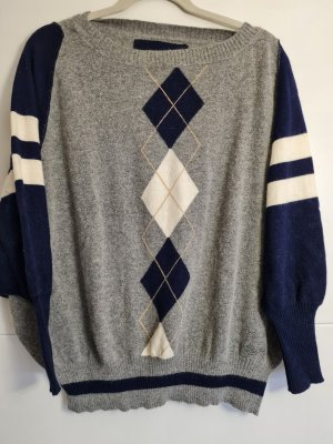 Replay Wool Sweater grey-dark blue