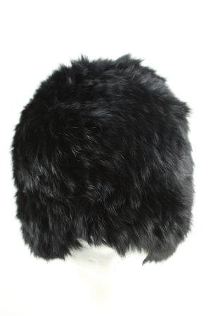 Replay Cappello in pelliccia nero stile casual