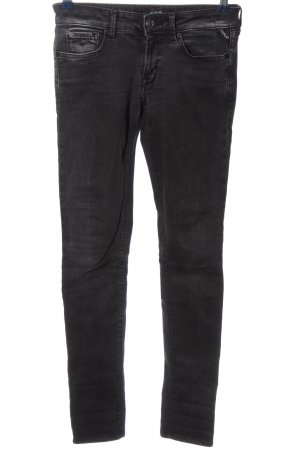 Replay Pantalón de cinco bolsillos negro look casual