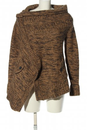 Replay Coarse Knitted Jacket brown extravagant style