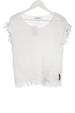 Replay Crochet Shirt white casual look