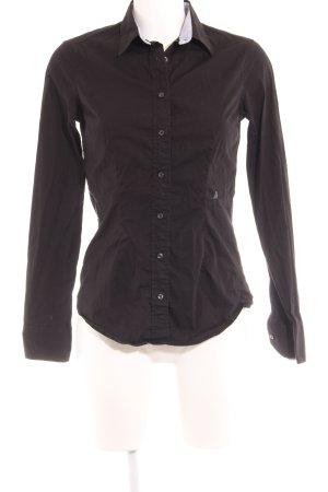 Replay Hemd-Bluse schwarz klassischer Stil