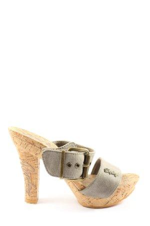 Replay High Heel Sandaletten hellgrau Casual-Look