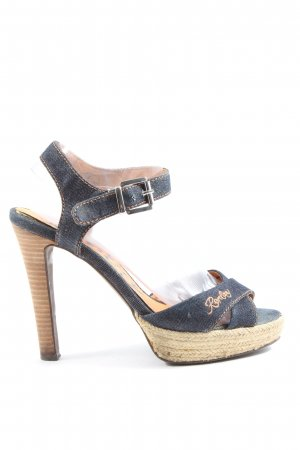 Replay High Heel Sandaletten blau Casual-Look