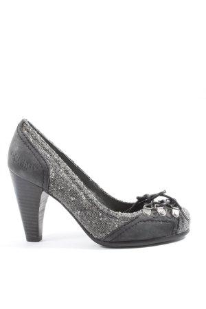 Replay High Heels schwarz-silberfarben Business-Look