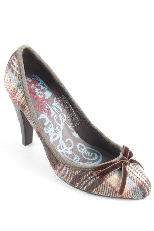 Replay High Heels hellbraun-bronzefarben Karomuster sportlicher Stil
