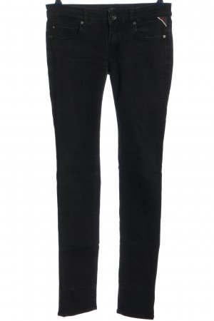 Replay High Waist Trousers black casual look