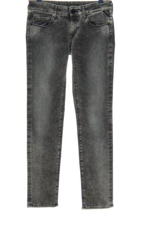 Replay Pantalon taille haute gris clair style décontracté