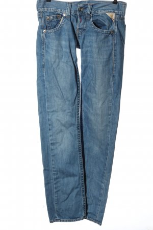Replay Jeans taille basse bleu style décontracté