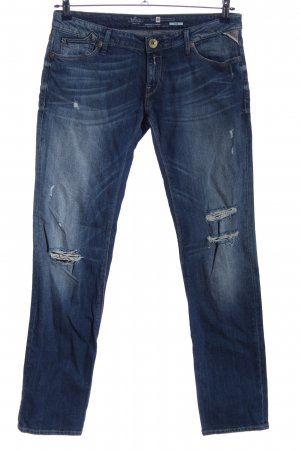 Replay Jeans taille basse bleu style décontracté