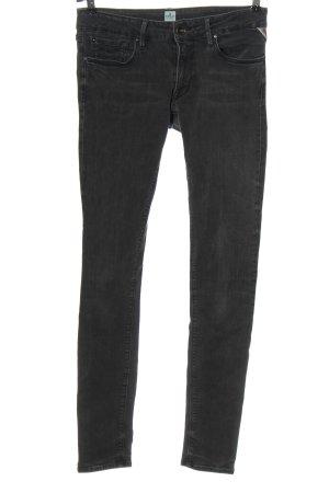 Replay Jeans taille basse gris clair style décontracté
