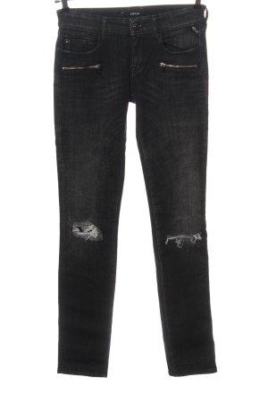 Replay Jeans vita bassa grigio chiaro stile casual