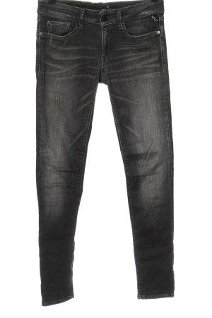 Replay Jeans taille basse noir style décontracté