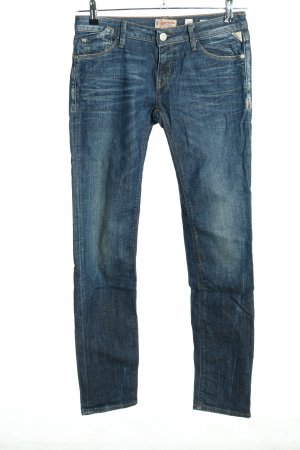 Replay Jeans taille basse bleu style mode des rues