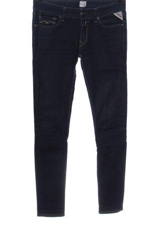 Replay Jeans vita bassa blu stile casual