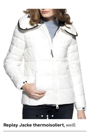 Replay Down Jacket white-black