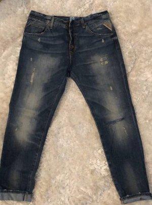 Replay Jeans boyfriend bleu foncé