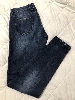 Replay Jeans cigarette bleu foncé coton