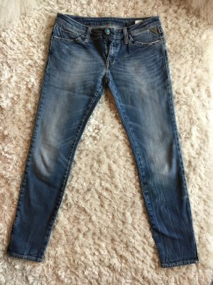 Replay Jeans vita bassa multicolore Cotone