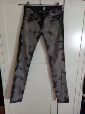 Replay Vaquero hipster color plata-negro tejido mezclado
