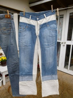 Replay Jeans bootcut bleu fluo-beige clair