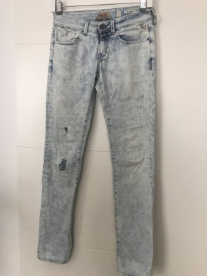 Replay Low Rise jeans lichtblauw