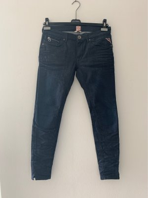Replay Stretch jeans donkerblauw