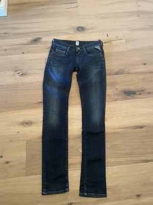 Replay Jeans vita bassa blu acciaio