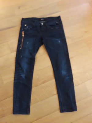 Replay Low Rise Jeans gold-colored-dark blue
