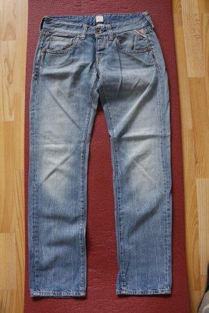 Replay Jeansy z prostymi nogawkami szary niebieski