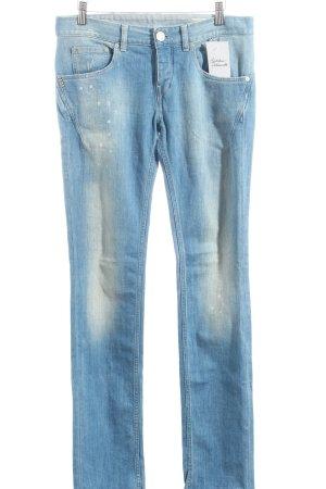 Replay Jeans hellblau Farbtupfermuster Casual-Look