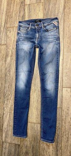 REPLAY Jeans LUZ 27 denim blau Röhre S 36 sexy skinny