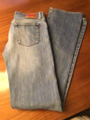 Replay Jeans taille basse bleu acier