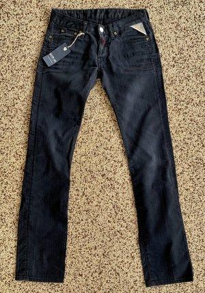 Replay Jeansy z prostymi nogawkami czarny Bawełna